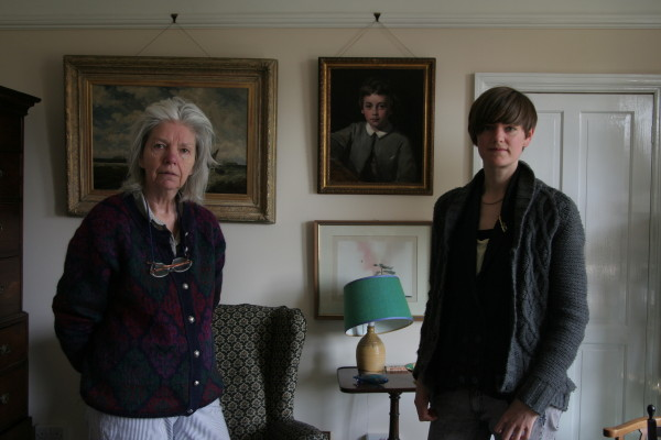 89_My Aunt Pen and Me with portrait of John Richmond by his father