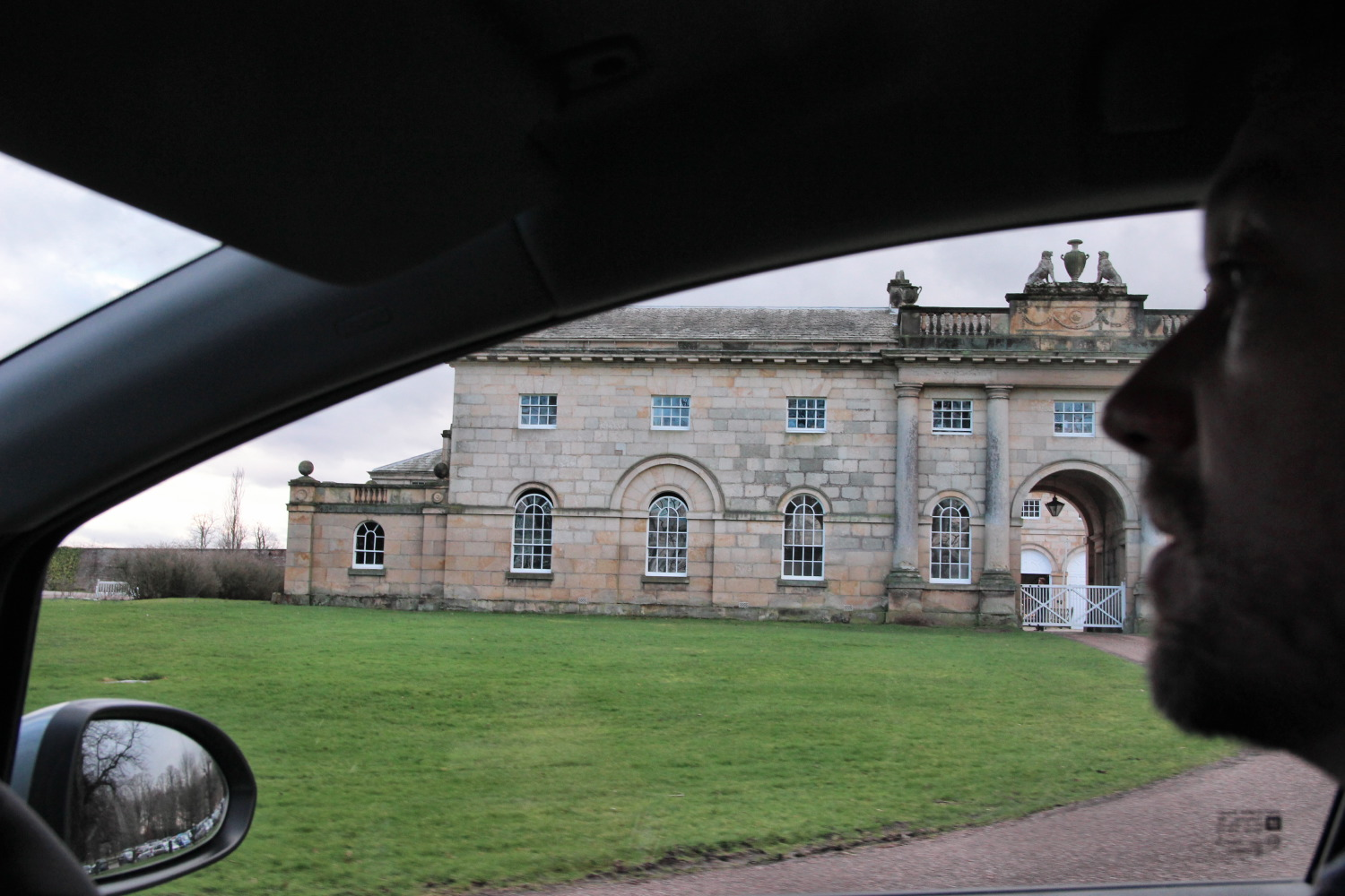 Driving up to Castle Howard, Feb 20th 2014