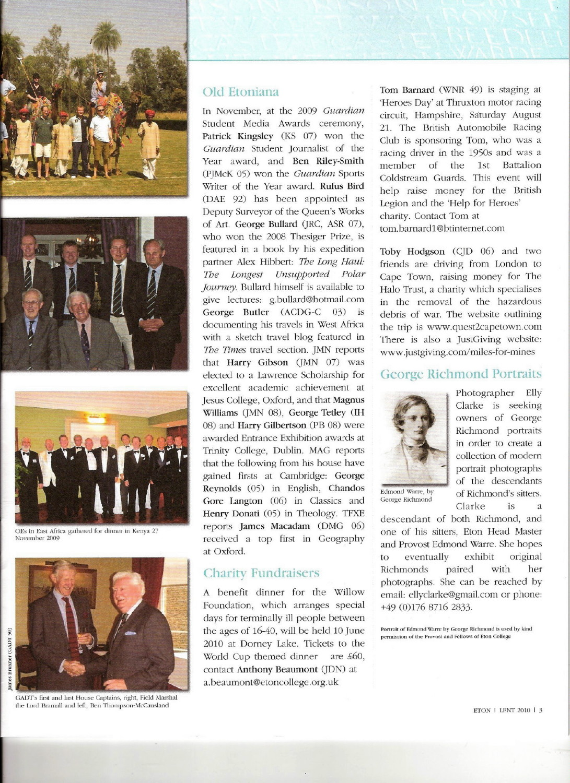 Eton News Lent 2010