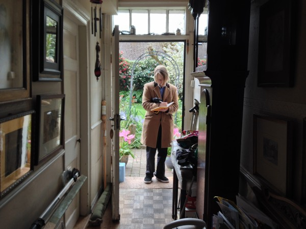 On location at the home of our George Richmond's in Jersey is a beautiful interior full of character. A member of the George Richmond team is busy making notes.