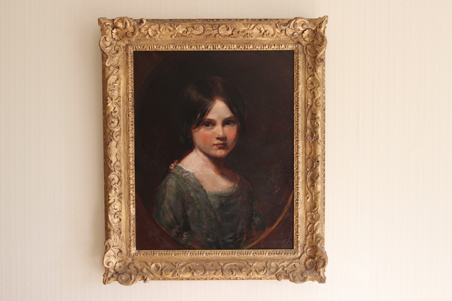 Laura Richmond by her father George, in the frame