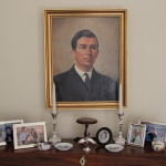 Miniature of Julia Richmond by George on the occasion of their wedding - and portrait of Micheal Buchanan and family photos 1