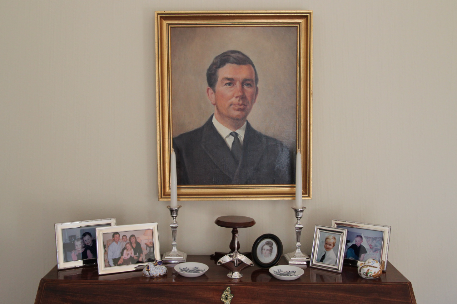 Miniature of Julia Richmond by George on the occasion of their wedding - and portrait of Micheal Buchanan and family photos