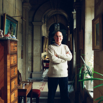 Simon Howard in the corridor of his private living quarters at Castle Howard, February 2014